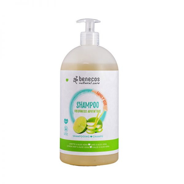 Natural Shampoo FAMILY SIZE Freshness Adventure Limette & Aloe Vera