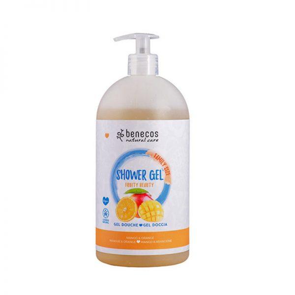 Natural Shower Gel FAMILY SIZE Fruity Beauty Mango & Orange