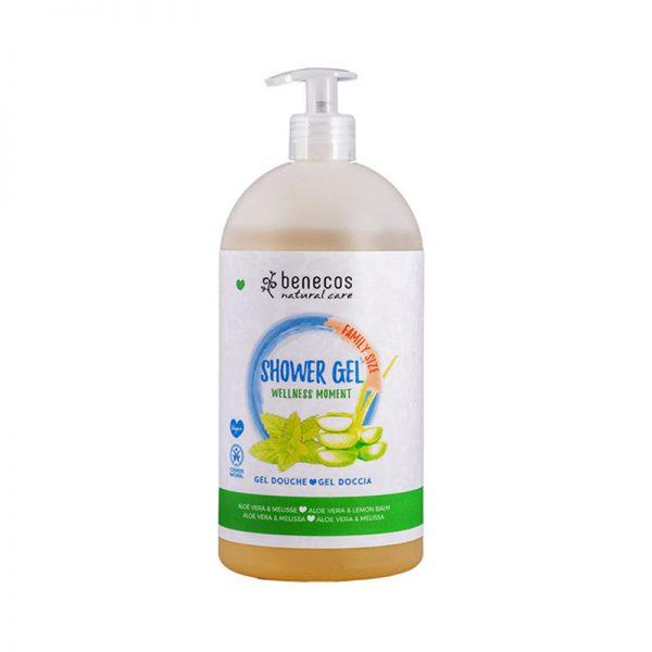 Natural Shower Gel FAMILY SIZE Wellness Moment Aloe Vera & Zitronenmelisse