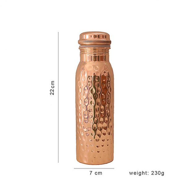 290430_Copper_Bottle_Hammered_600ml_dimensions_neww